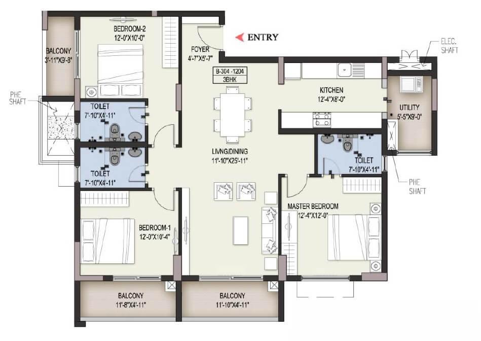 ozone pole star apartment 3 bhk 1636sqft 20202016192028