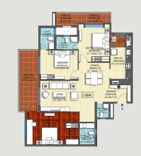 ozone promenade apartment 3bhk 2095sqft 1