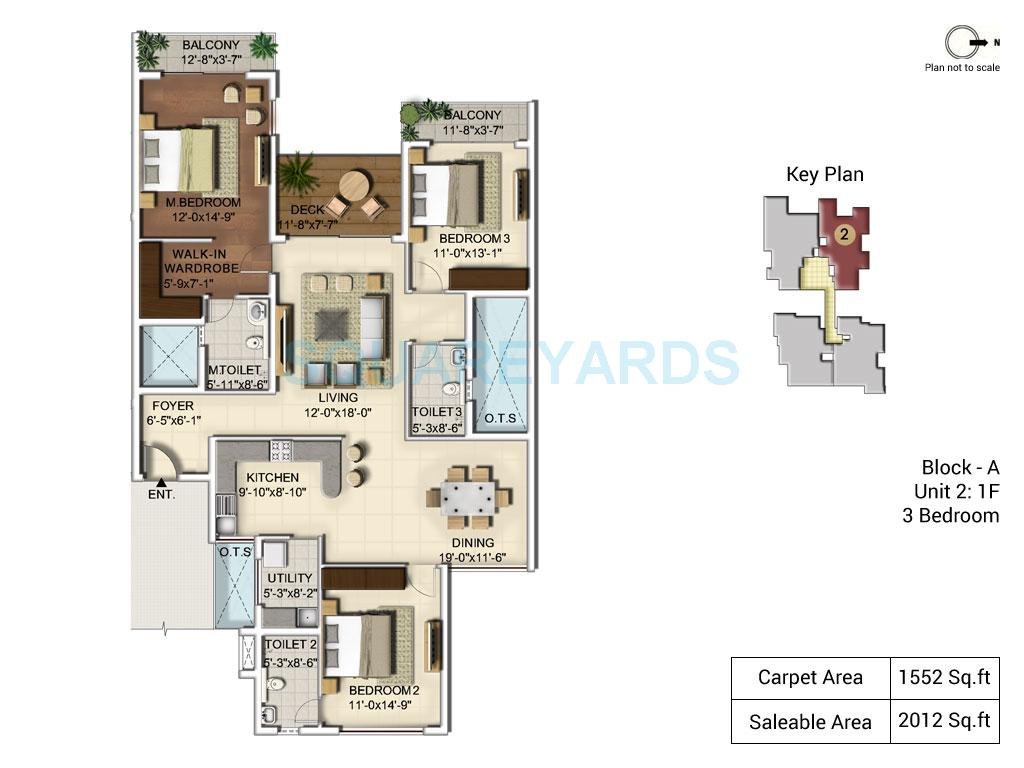 ozone urbana alcove apartment 3bhk 2012sqft 1