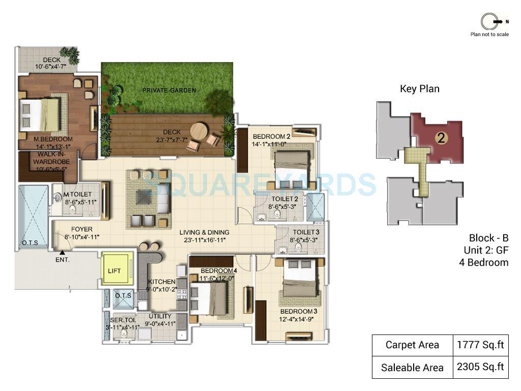 ozone urbana alcove apartment 4bhk 2305sqft1