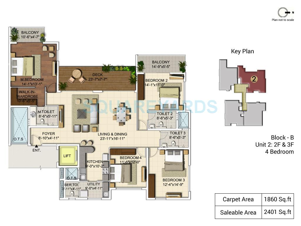ozone urbana alcove apartment 4bhk 2401sqft1