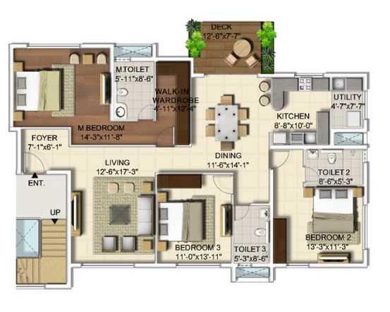 ozone urbana apartment 3 bhk 1145sqft 20203507133511