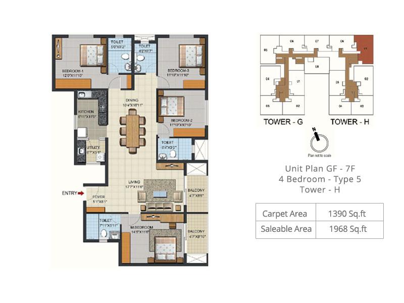ozone urbana aqua 2 apartment 4bhk 1968sqft 1