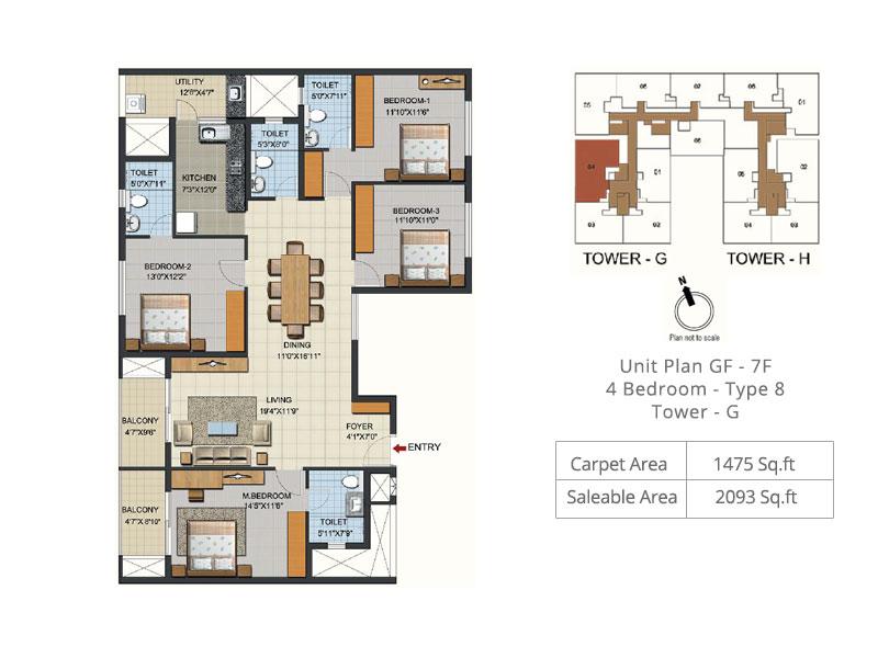 ozone urbana aqua 2 apartment 4bhk 2093sqft 1