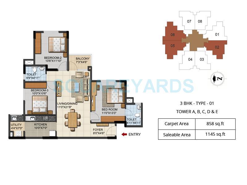 ozone urbana aqua apartment 3bhk 1145sqft211