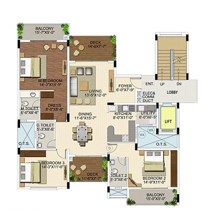 ozone urbana aura apartment 3bhk 1367sqft21