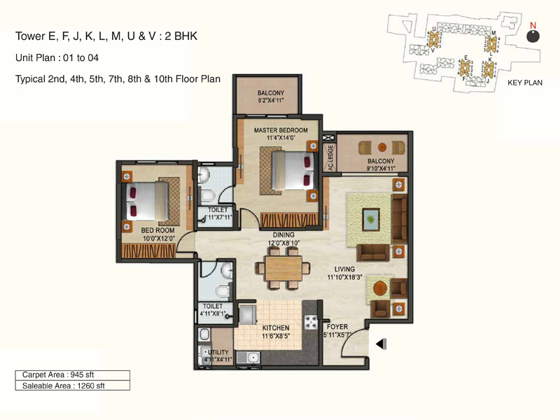 ozone urbana avenue apartment 2bhk 1260sqft 1