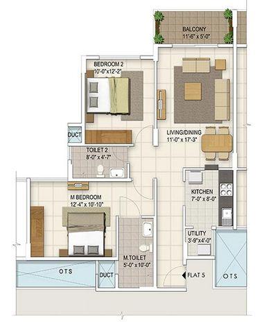 ozone urbana irene apartment 2bhk 1066sqft 1