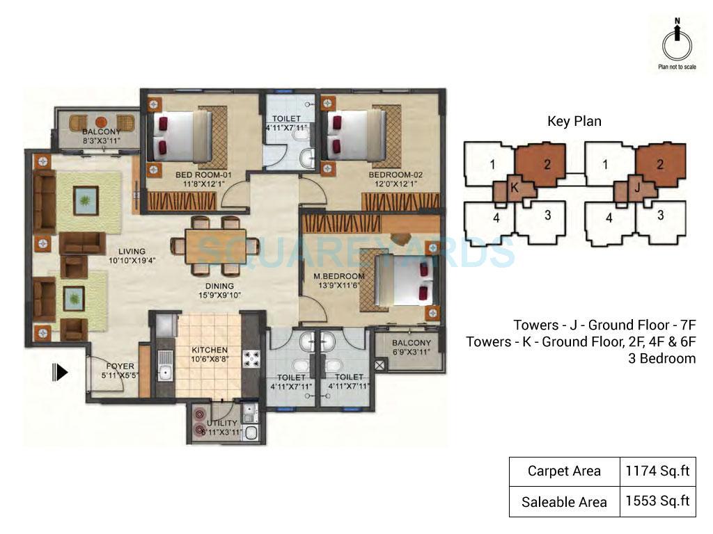 ozone urbana pavilion apartment 3bhk 1553sqft1