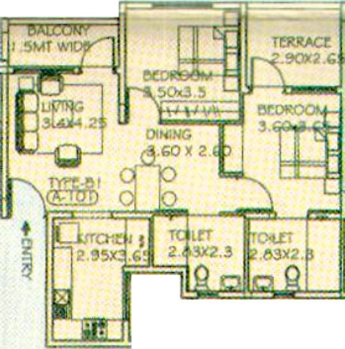 paranjape schemes athashri apartment 2bhk 1234sqft71