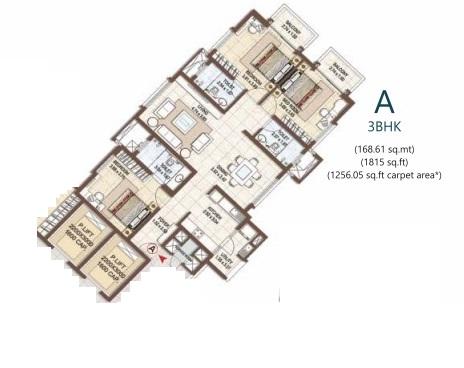 pashmina waterfront apartment 3 bhk 1815sqft 20204515104547