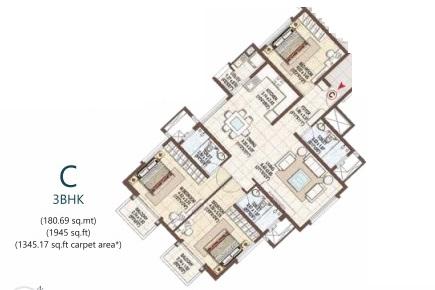 pashmina waterfront apartment 3 bhk 1945sqft 20205215105205