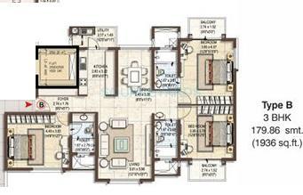 pashmina waterfront apartment 3bhk 1936sqft1