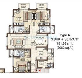 pashmina waterfront apartment 3bhk 2062sqft1