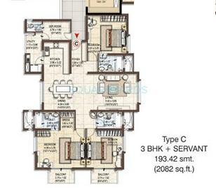 pashmina waterfront apartment 3bhk 2082sqft1