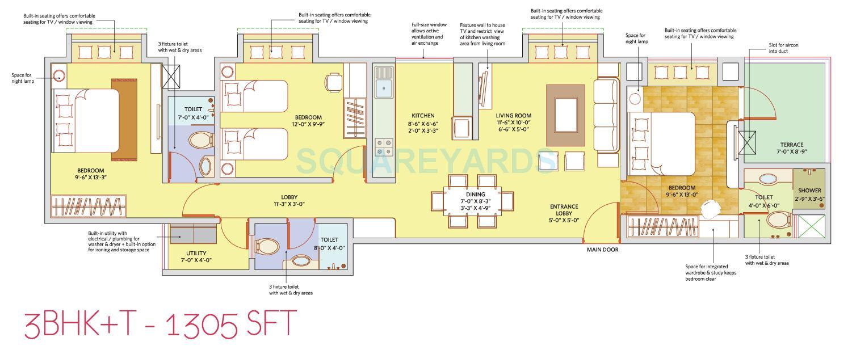patel smondoville apartment 3bhk 1350sqft1