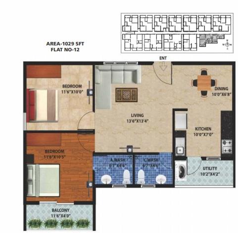peace rhythm apartment 2 bhk 1029sqft 20204920104935