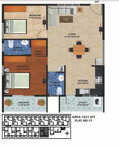 peace rhythm apartment 2 bhk 1221sqft 20204920104909
