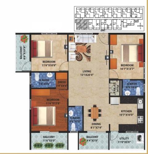 peace rhythm apartment 3 bhk 1694sqft 20204520104502