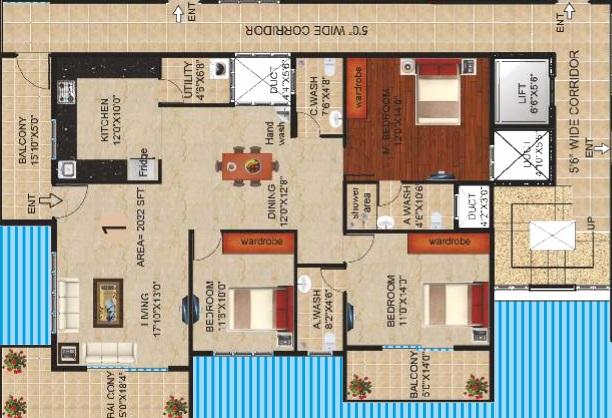 peace sapphire apartment 3 bhk 1760sqft 20211016121014
