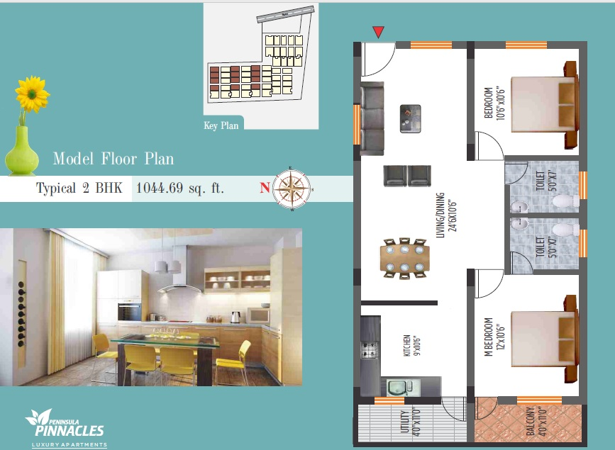 peninsula infra pinnacles apartment 2bhk 1044sqft81