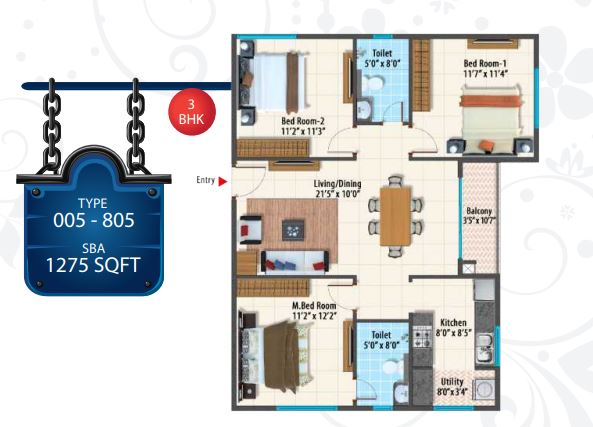 peninsula paramount apartment 3bhk 1275sqft 1