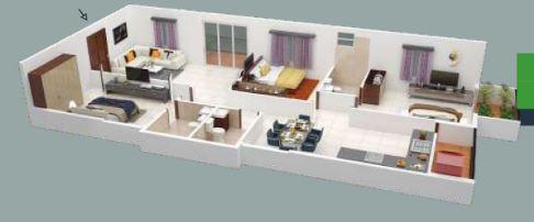 pioneer park avenue apartment 3bhk 1635sqft 41