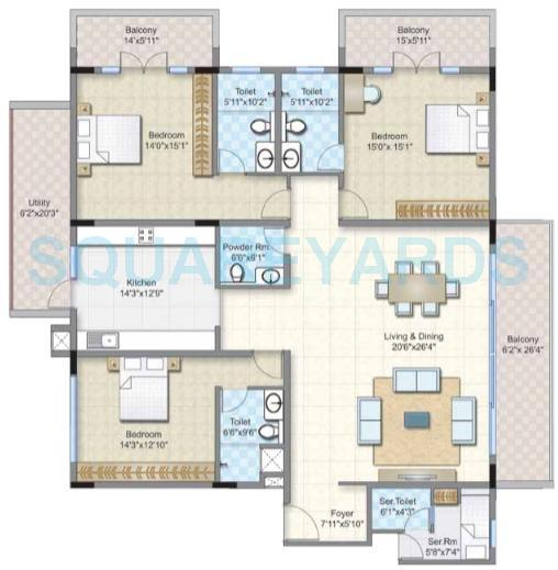 prestige abshot apartment 3bhk 3770sqft1
