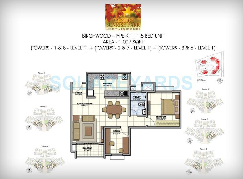 prestige birchwood apartment 1bhk 1023sqft1