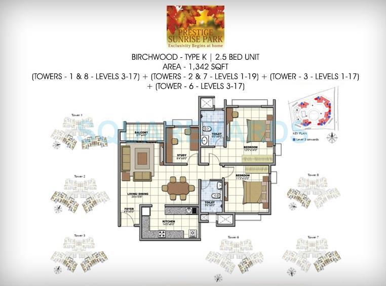 prestige birchwood apartment 2bhk 1341sqft1