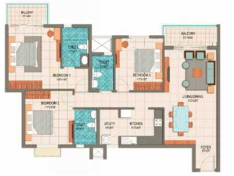 prestige dolce vita apartment 3bhk 1924sqft81