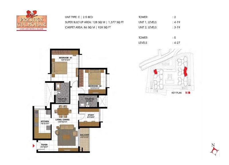 prestige gulmohar apartment 2bhk 1377sqft181
