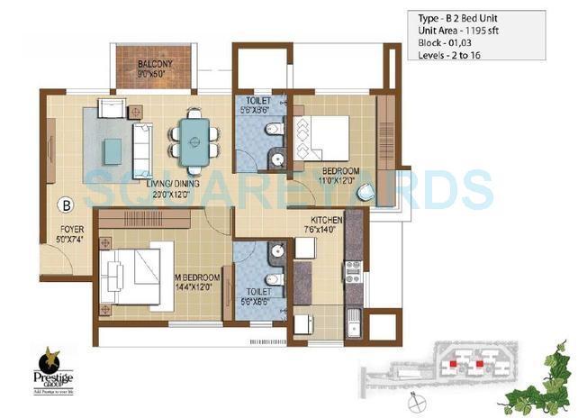 prestige ivy terraces apartment 2bhk 1195sqft1