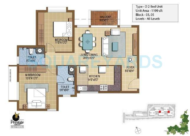prestige ivy terraces apartment 2bhk 1199sqft 1