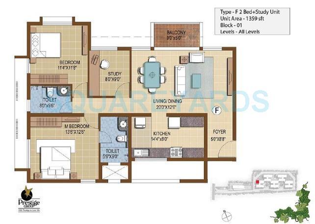 prestige ivy terraces apartment 2bhk 1359sqft 1