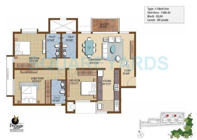 prestige ivy terraces apartment 3bhk 1586sqft1