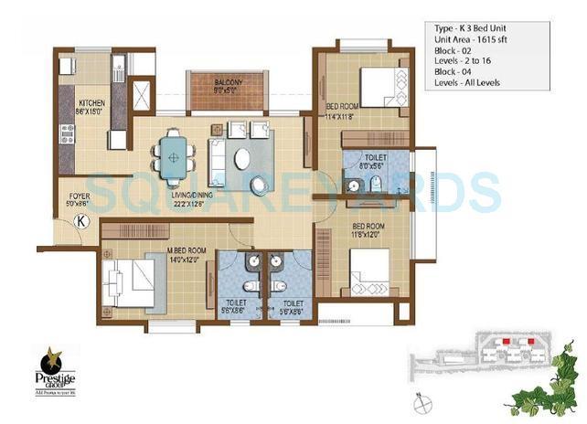 prestige ivy terraces apartment 3bhk 1615sqft1