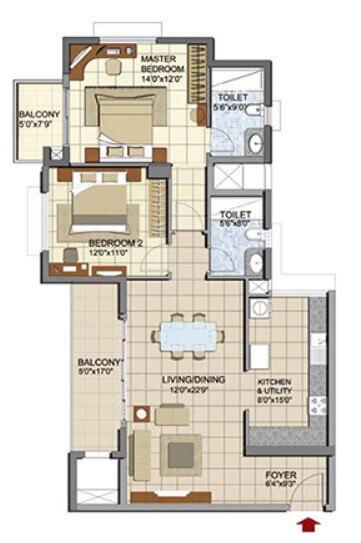 prestige lakeside habitat apartments apartment 2bhk 916sqft1