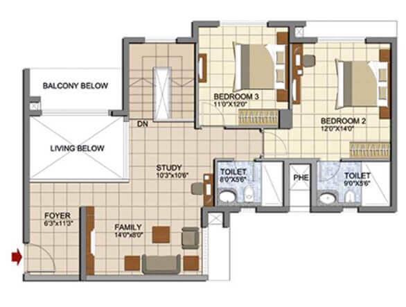 prestige lakeside habitat apartments apartment 3bhk 1533sqft 1