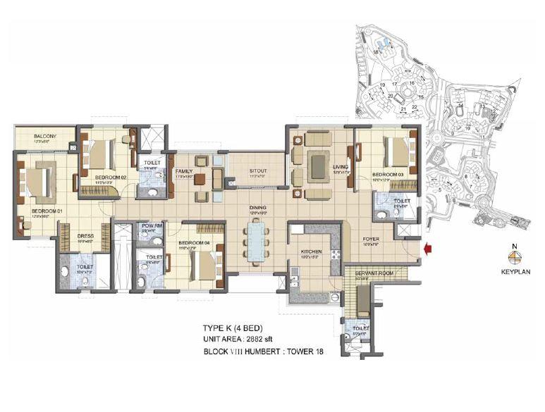 prestige lakeside habitat apartments apartment 4bhk 2882sqft1