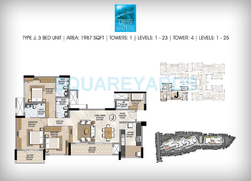 prestige misty waters apartment 3bhk 1987sqft1