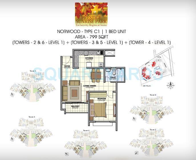 prestige norwood apartment 1bhk 802sqft1