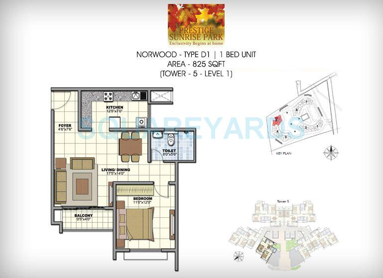 prestige norwood apartment 1bhk 828sqft1