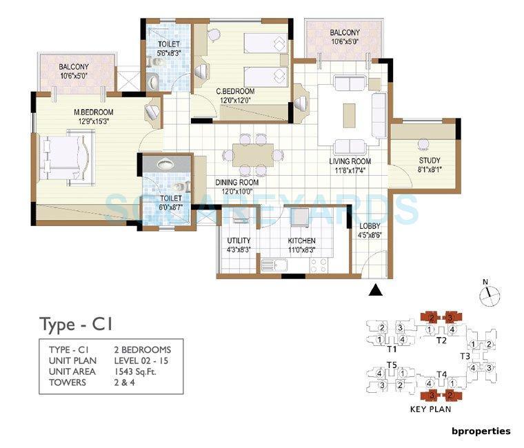 prestige notting hill apartment 2bhk 1543sqft 1