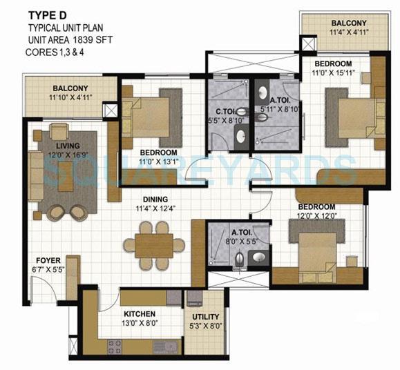 prestige parkview apartment 3bhk 1839sqft1