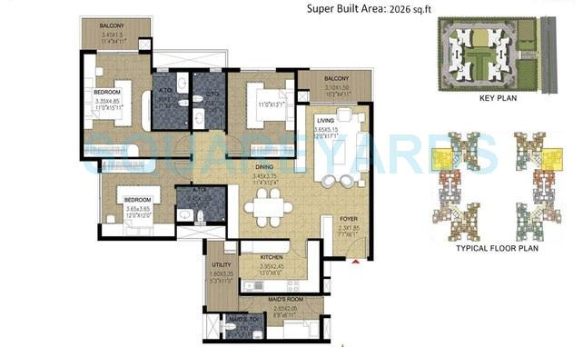 prestige parkview apartment 3bhk 2026sqft1