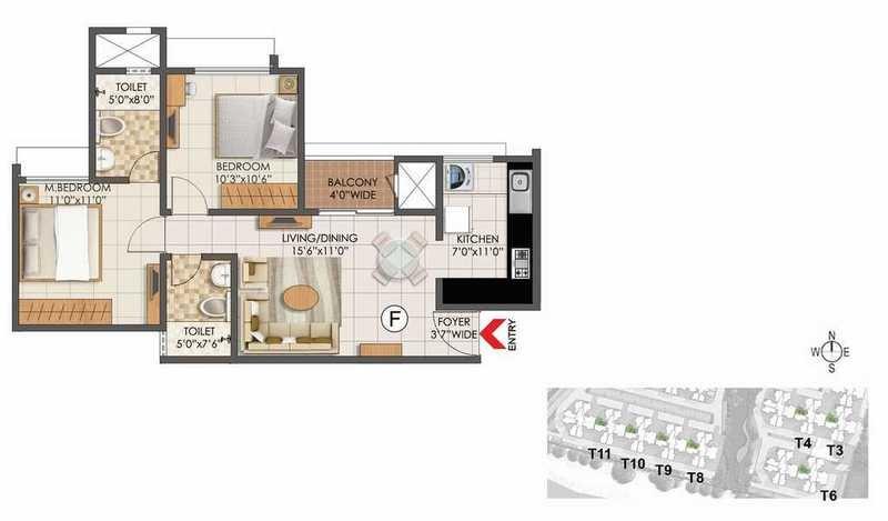 prestige primrose hills phase ii apartment 2 bhk 867sqft 20213409113435