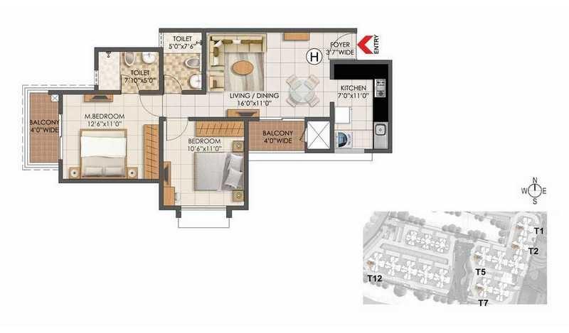 prestige primrose hills phase ii apartment 2 bhk 988sqft 20213509113506