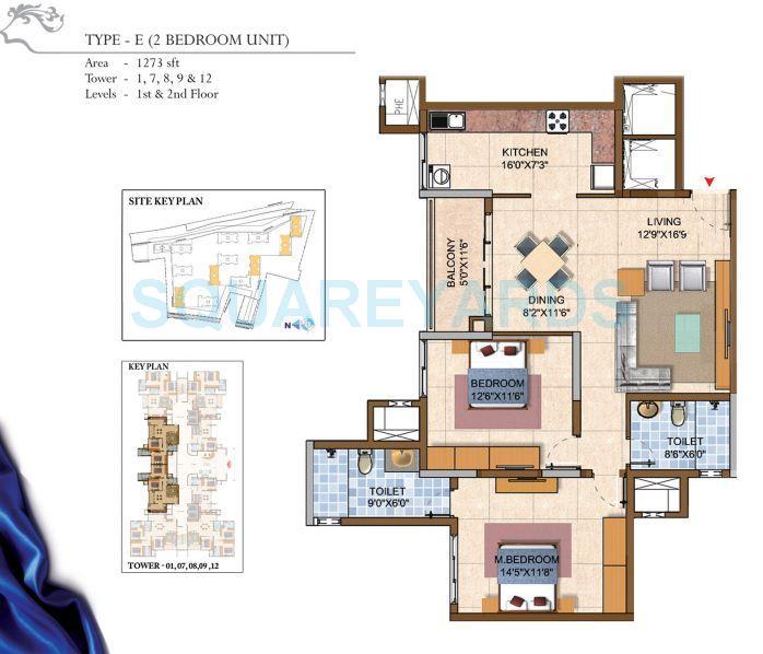 prestige royal gardens apartment 2bhk 1314sqft1