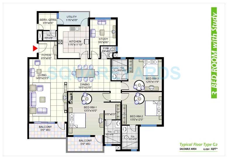 prestige shantiniketan apartment 3bhk 2292sqft 1